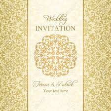 Baroque Wedding Invitations Baroque Wedding Invitation Gold On Beige Background Royalty Free