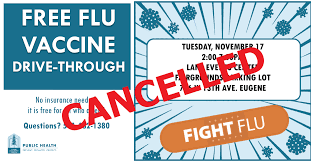 The good news is that. Free Flu Shot Event At Fairgrounds Canceled