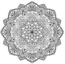 Mandala A Colorier Gratuit Fleurs Difficile Mandalas Difficiles