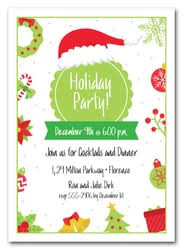 Business Christmas Party Invitations, Corporate Holiday Invitations ...