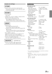 alpine cde 9846 cd player cde9846 owners manual