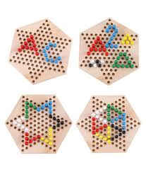... Trinkets & More - Wooden Chinese Checkers Hexagon Board with Wooden  Marbles | Board Games Superb ...