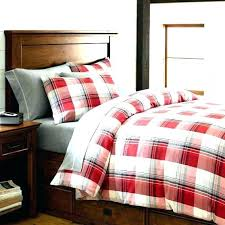 cuddl duds 6 piece gray plaid flannel comforter set buffalo red duvet cover bed full image