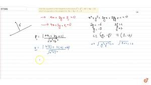 find the equations of the tangents to the circle x 2 y 2 6x 4y 12 which are parallel to the s