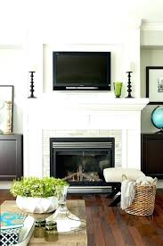 how to hide cords on wall mounted tv over brick fireplace the best