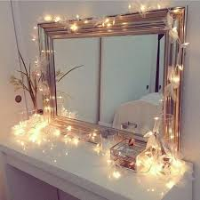 Add Lights To A Mirror This Is Vanahs Vanity Mirror Add Well Lit Strands