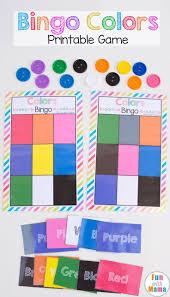 Printable Bingo Colors Color Games Free Printable And Template