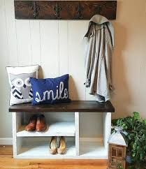 Boot Bench With Coat Rack New Rustic Bench With Shoe Rack And Boot Storage Cubby Bench Entryway
