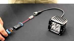 starkey fog light wiring adapters h10 to deutsch connectors youtube tacoma fog light wiring harness at Tacoma Fog Light Wiring Harness