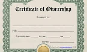 Free Printable Certificates Of Ownership Form Templates Within
