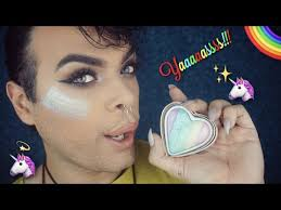 testing makeup revolution unicorns heart highlighter