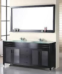 60 inch modern double sink bathroom vanity in espresso uvde016a61 mirror design 17