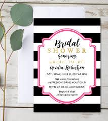 Free Editable Bridal Shower Invitation Hot Pink Black White