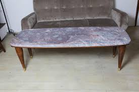 Italian Coffee Tables Marble Italian Coffee Table With Peach Blossom Marble Top 1950s For Sale