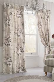 Next Bedroom Curtains Buy Mauve Floral Poetry Printed Pencil Pleat Curtains From The