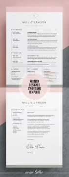 Modern Looking Resume Template Simple Resume Templates Design Design Graphic Design