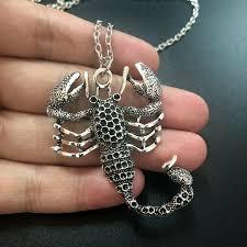 jewelry scorpio chain ancient silver