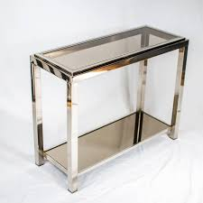 chrome console table  joevin ortjens galerie
