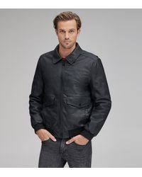 Andrew Marc Vaughn Leather Bomber in Cognac (Brown) for Men - Lyst