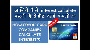 Credit Card Interest Calculator How Credit Card Interest Is Calculated In Detail In Hindi Youtube