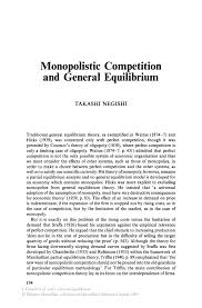 monopolistic competition and general equilibrium springer general equilibrium general equilibrium