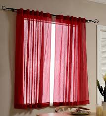 mysky home back tab and rod pocket window crushed voile sheer curtains