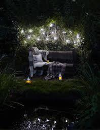diy garden lighting ideas inspiration outdoor solar security lights festoon light bench lanterns pond night