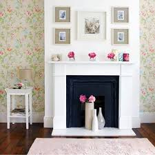 View in gallery Fireplace flower display DIY