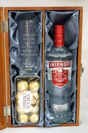 end hi ball gl smirnoff vodka 70cl gift set in wooden gift box