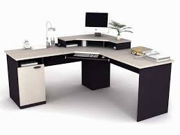 furniture l shaped modern computer desk with keyboard trey for