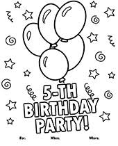 birthday index cakes cards coloring crafts games hats themes treat bags. Printable Greeting Cards Coloring Pages Topcoloringpages Net