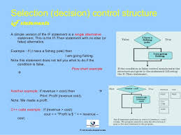 Control Structure Flow Chart Selection Decision In Control Structure