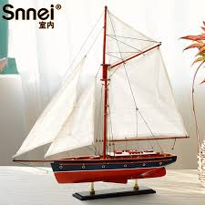 get ations sloop model ship model wooden model sailboat ornaments snnei spain european office decoration 60 cm