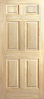 Pine slab doors panel 6 8 tall 2 shaker interior wood door standart ...