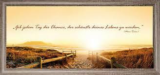 Bilder Wandbild Keilrahmen Leinwand Strand Sonnenuntergang Sprüche