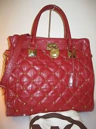 Kors Red Quilted Large Hamilton Studded Tote Shoulder Bag $448   eBay & Michael Kors Red Quilted Large Hamilton Studded Tote Shoulder Bag $448    eBay Adamdwight.com