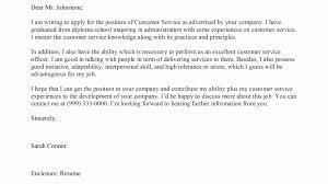 Customer Service Officer Resume Sample Lovely Cover Letter For