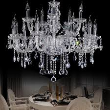 star hotel clear large crystal chandelier modern big chandeliers 15 lights villa hanging lamp parlor candle chandelier candle holder crystal