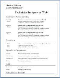 Redaction De Cv Simple Simple Cvs Addison Abou Info