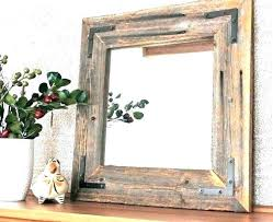 rustic wood mirror frame. Delighful Frame Rustic Wood Framed Mirrors Mirror Frame  Small Modern Reclaimed  With M