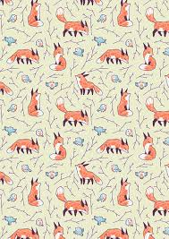Bird Pattern Adorable Fox And Bird Pattern By Freeminds On DeviantArt