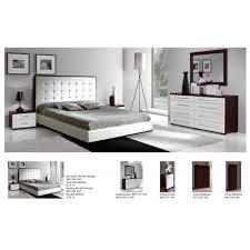 Mirrored Night Stands Bedroom Penelope Luxury Bedroom Set Bed 2 Nightstands Dresser And