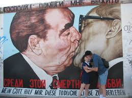 the kiss berlin wall  on famous berlin wall artists with the kiss history by the slice