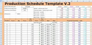 Production Schedule Template Excel Free Download Master Schedule Template Excel Printable Schedule Template