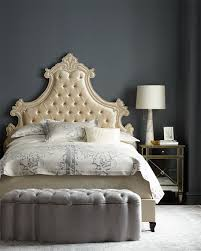 neiman marcus bedroom bath. Ideal Candace Rose Haute House Gustav Tufted King Bed Ivory Neiman Marcus Bedroom And Bath Sale S