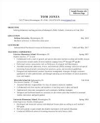 Teaching Objectives For Resume Elementary School Teacher Objective