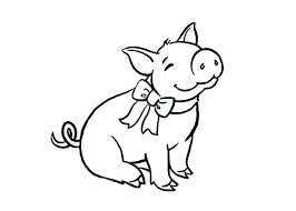 Pig Coloring Sheets Pig Coloring Page Animals For Baby Pigs Coloring