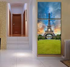 Wall Art Sets For Living Room Online Buy Wholesale 3 Piece Wall Art Set Eiffel From China 3