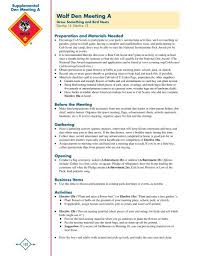 Wolf Advancement Chart Supplemental Wolf Den Meeting I Cub Scout Pack 167