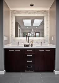 Modern Bathroom Design With Blue Walls Paint Color Espresso - Best paint finish for bathroom